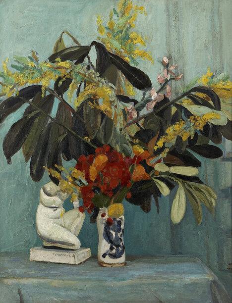 Pour le tableau du samedi, Jacqueline Marval nous propose un bouquet sombre