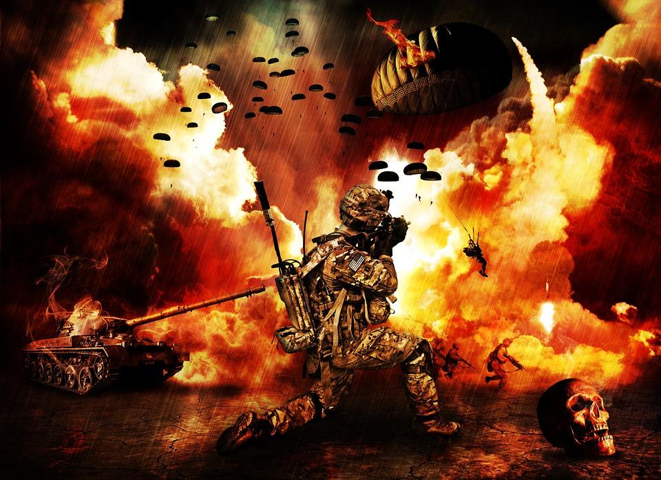 Lieu De La Guerre, Guerre, Apocalypse, Fin Du Monde