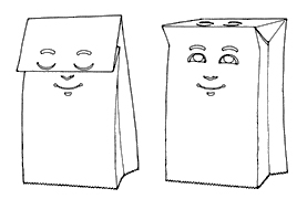 paper bag faces