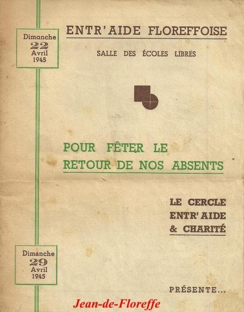 1. Théâtre - 22 et 29 avril 1945