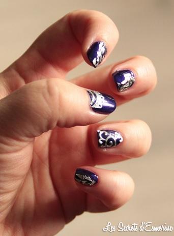 nail art, nee jolie, miss europe, #5659, sticker, 3d, metal, argent