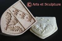 Arts et Sculpture - moules à biscuits artisanaux et personnalisés en bois: spéculoos, springerle, sablés, pâte d'amande