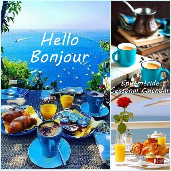 Bonjour mes amis(es) bon mardi à tous, ici avec un beau soleil d,été ...  Gros bisous Josie - Bonjour moi c'est Josie.