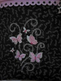 pochette de voyage: noir et rose