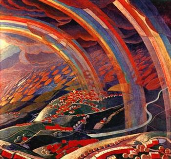 Gerardo Dottori, Le miracle de lumière, 1931