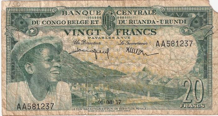 billet du Congo belge