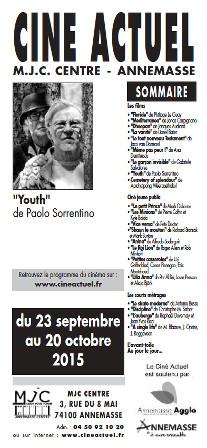 Programme du 23 septembre au 20 octobre 2015