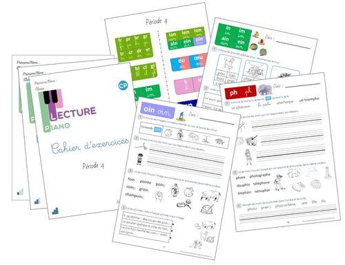Cahier d'exercices Piano de la P4 version 2020-2021