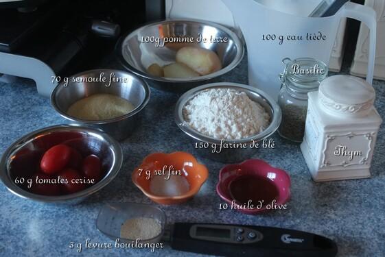 Focaccia pomme de terre et tomates