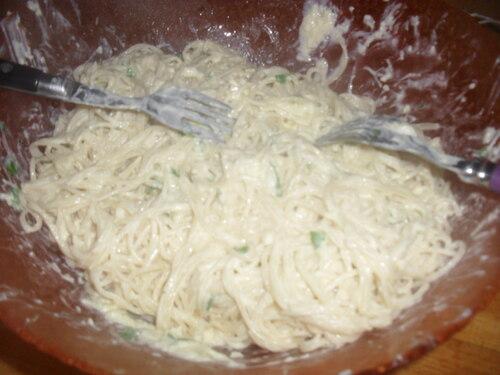 Et ce soir, c'est capellini à la ricotta!!