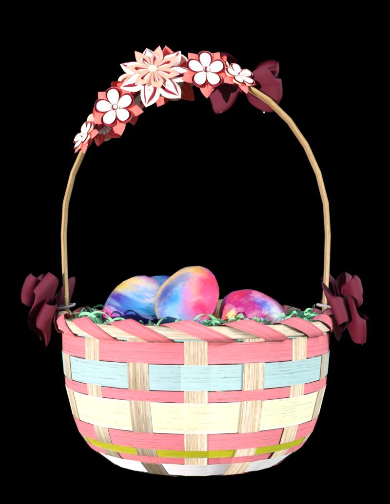 Tube panier d'œufs de pâques (image-render)