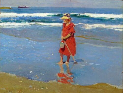 Se promener sur la plage avec  Joaquín Sorolla