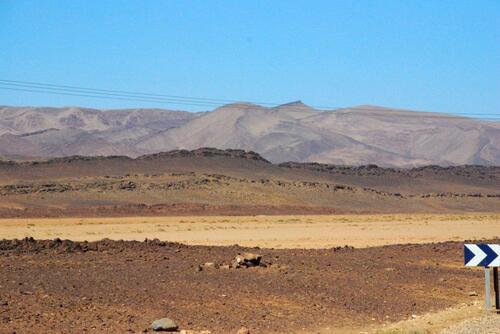 sable et roches, le désert