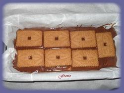 Terrine de chocolat spéculoos / sauce carambar
