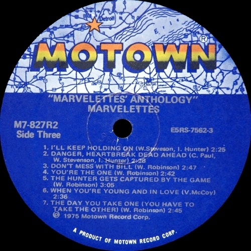 Anthology LP Motown Records M7-827R2 [ US ]