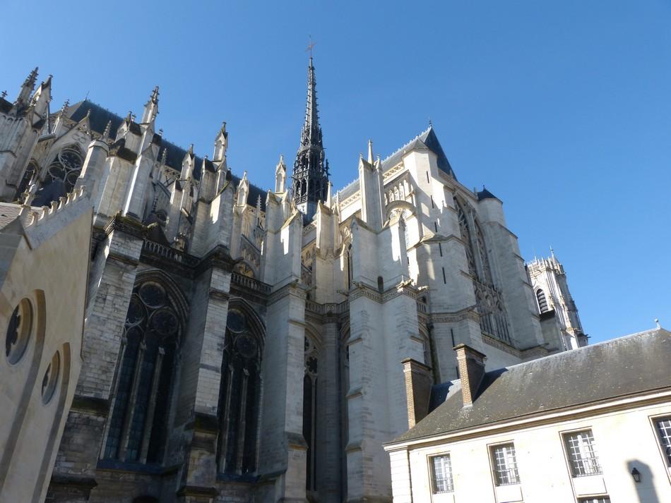 Notre Dame d'Amiens, le matin, le soir