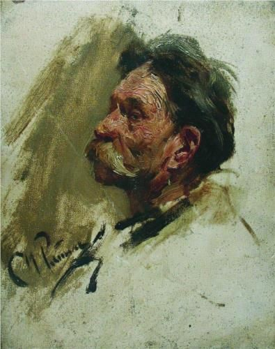 Ilya Repin - portrait of a peasant