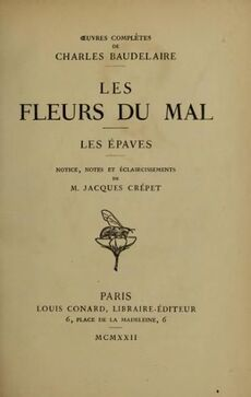 """""""Les Fleurs du mal"""" de Baudelaire"""