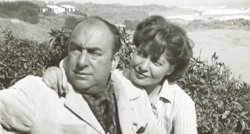 Mathilde Urrutia et Pablo Neruda