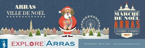 A Arras on a le plus grand marché de Noël au nord de Paris.
