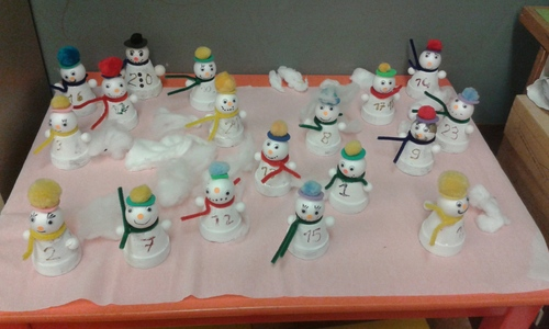 Bonhomme de neige : Calendrier de l'Avent