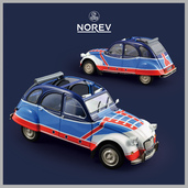 "1:18 NOREV 181498 Citroën 2CV 6 ""Basket"" (prototypes)"
