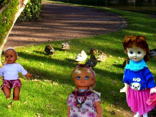 Benjamin, Cathy et Amandine en balade