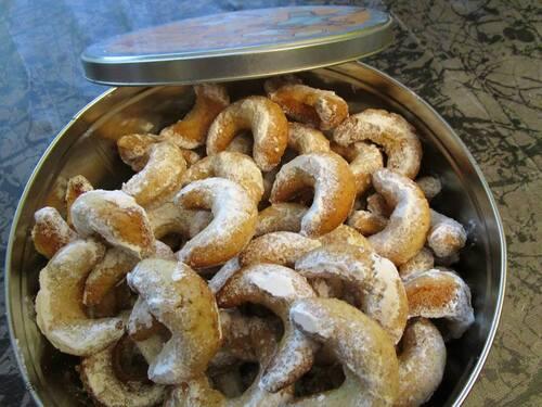 Croissants noisettes sablés