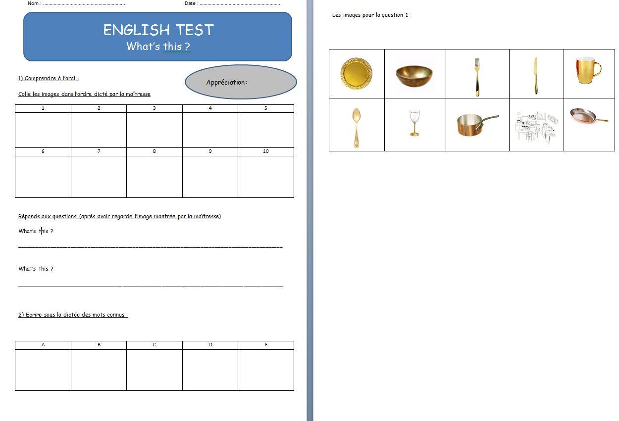 Anglais Evaluations Chez Val 10