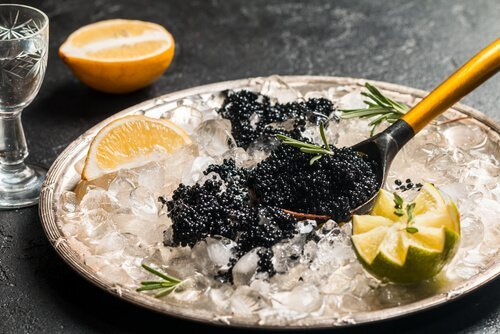 Assiette de caviar