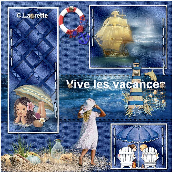 "Template n°6 ""Vacances au bord de la mer """