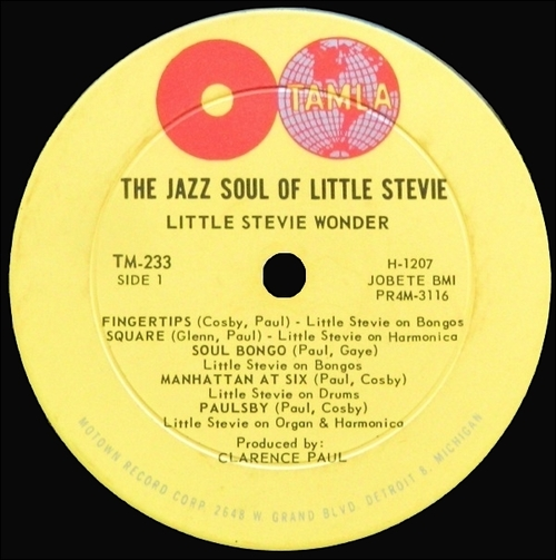 "Stevie Wonder : Album "" The Jazz Soul Of Little Stevie "" Tamla Records TM 233 [ US ]"