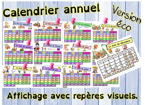 calendriers 2016 - 2017