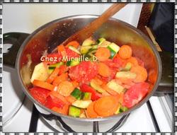 Velouté de Courgettes Carottes et Tomates
