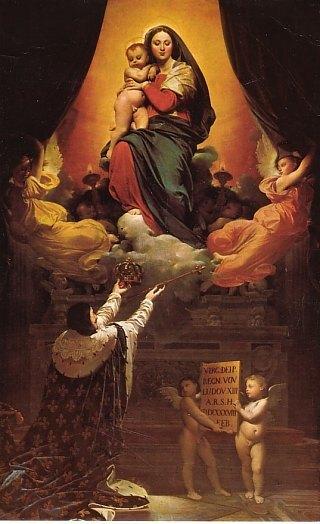 Voeu de Louis XIII. Peinture d'Ingres