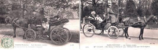 1907 PARIS   Les femmes cocher, une victoire du féminisme