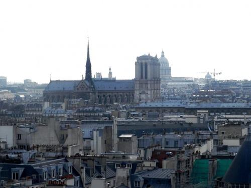 Zolies vues du haut du Centre Pompidou (photos)
