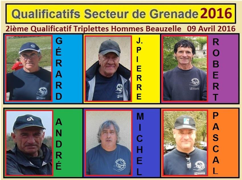 2ième Qualificatif Triplettes Hommes à Beauzelle.