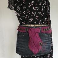 Sac jean et foulard