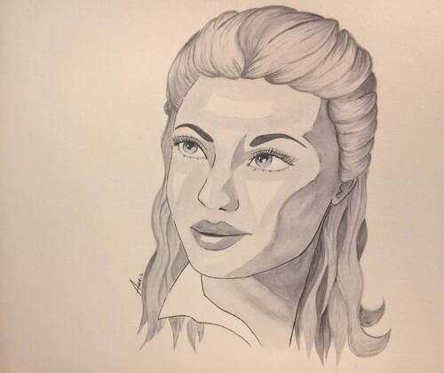 Portrait façon années 50
