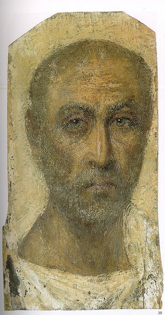 Fayum Mummy Portrait (1st century BCE) by artinconnu, via Flickr