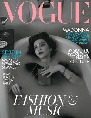 Madonna en couverture de VOGUE UK