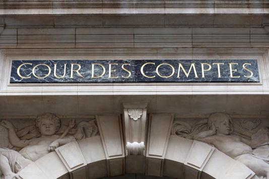 La façade de la Cour des comptes, à Paris, en janvier 2013.