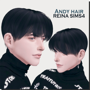 Reina_TS4_Andy hair * New mesh / ALL LOD * Do not Re-colors without permission * Do not modify my mesh * Do not upload the direct download link * Do not re-upload DL