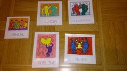 Des étiquettes à la manière de Keith Haring
