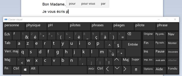 Saisie prédictive au clavier dans Windows 10