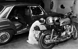 Une moto au musée