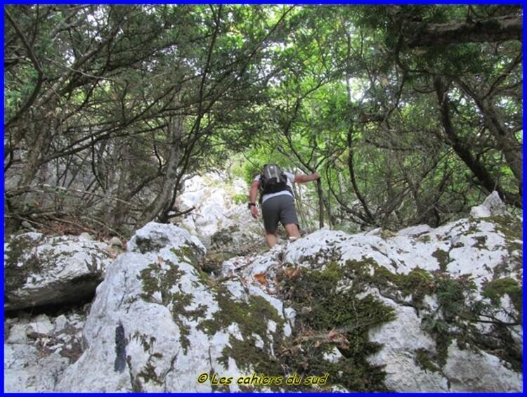 Sainte Baume, voie Gombault-sentier Estruch