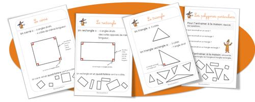 Maths : leçons . Angles droits et polygones particuliers