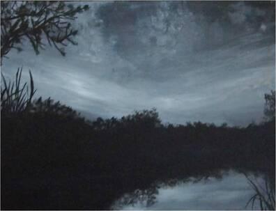Paysages de la Réunion , B&W-acrylique